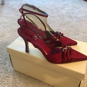 Red/burgundy everything shoes size 6